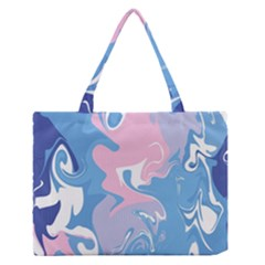 Abstract Marble 10 Zipper Medium Tote Bag