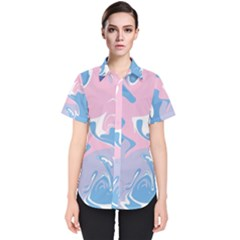 Abstract Marble 10 Women s Short Sleeve Shirt