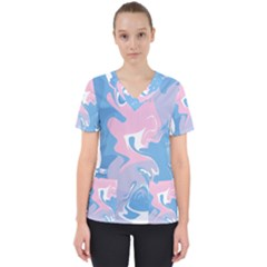 Abstract Marble 10 Scrub Top