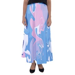 Abstract Marble 10 Flared Maxi Skirt by tarastyle