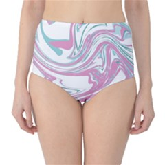 Abstract Marble 12 High Waist Bikini Bottoms
