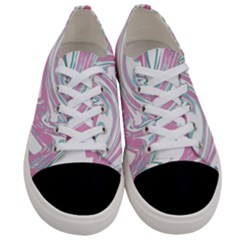 Abstract Marble 12 Women s Low Top Canvas Sneakers