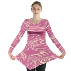 Abstract Marble 14 Long Sleeve Tunic  by tarastyle
