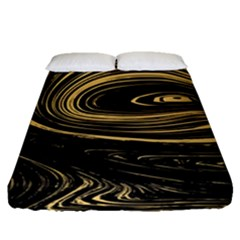 Abstract Marble 15 Fitted Sheet (queen Size)