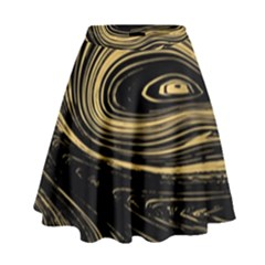 Abstract Marble 15 High Waist Skirt by tarastyle