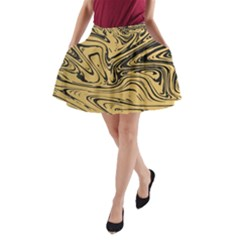 Abstract Marble 16 A Line Pocket Skirt by tarastyle