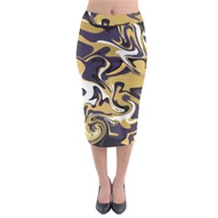 Abstract Marble 17 Midi Pencil Skirt by tarastyle