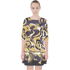 Abstract Marble 17 Pocket Dress