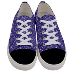 New Sparkling Glitter Print E Women s Low Top Canvas Sneakers
