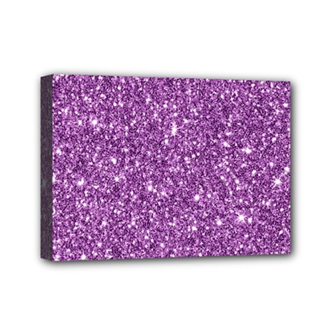 New Sparkling Glitter Print D Mini Canvas 7  X 5  by MoreColorsinLife