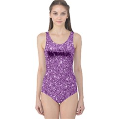 New Sparkling Glitter Print D One Piece Swimsuit