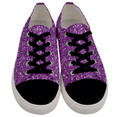 New Sparkling Glitter Print D Men s Low Top Canvas Sneakers