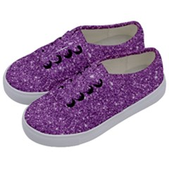 New Sparkling Glitter Print D Kids  Classic Low Top Sneakers by MoreColorsinLife