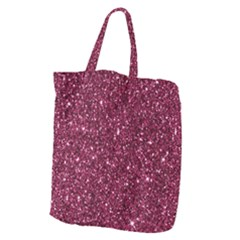 New Sparkling Glitter Print J Giant Grocery Zipper Tote