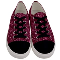 New Sparkling Glitter Print J Men s Low Top Canvas Sneakers