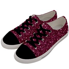 New Sparkling Glitter Print J Men s Low Top Canvas Sneakers by MoreColorsinLife