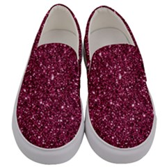 New Sparkling Glitter Print J Men s Canvas Slip Ons