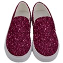 New Sparkling Glitter Print J Men s Canvas Slip Ons View1