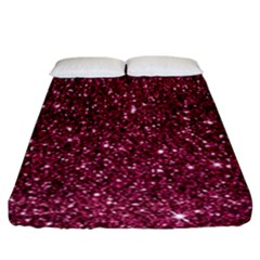 New Sparkling Glitter Print J Fitted Sheet (california King Size) by MoreColorsinLife