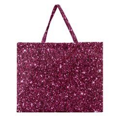 New Sparkling Glitter Print J Zipper Large Tote Bag by MoreColorsinLife
