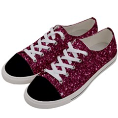 New Sparkling Glitter Print J Women s Low Top Canvas Sneakers by MoreColorsinLife