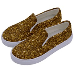 New Sparkling Glitter Print I Kids  Canvas Slip Ons by MoreColorsinLife