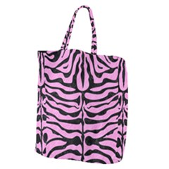 Skin2 Black Marble & Pink Colored Pencil Giant Grocery Zipper Tote by trendistuff