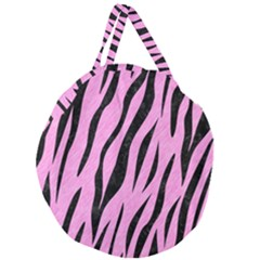Skin3 Black Marble & Pink Colored Pencil Giant Round Zipper Tote