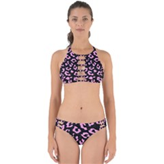 Skin5 Black Marble & Pink Colored Pencil Perfectly Cut Out Bikini Set