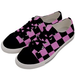 Square1 Black Marble & Pink Colored Pencil Men s Low Top Canvas Sneakers by trendistuff