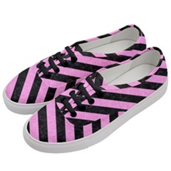 Stripes3 Black Marble & Pink Colored Pencil Women s Classic Low Top Sneakers by trendistuff