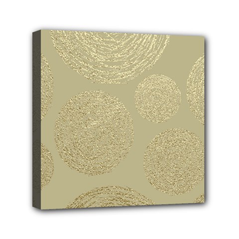 Modern, Gold,polka Dots, Metallic,elegant,chic,hand Painted, Beautiful,contemporary,deocrative,decor Mini Canvas 6  X 6  by 8fugoso