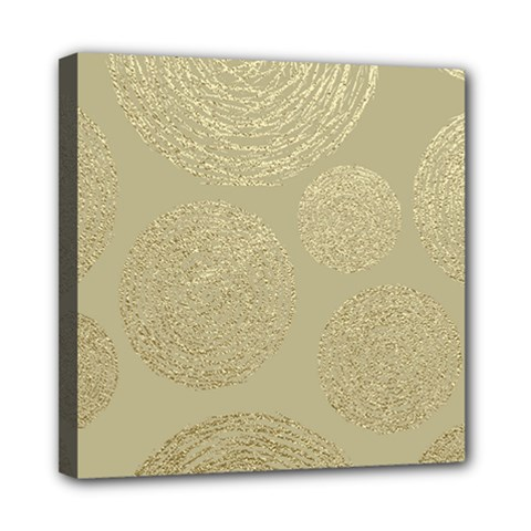 Modern, Gold,polka Dots, Metallic,elegant,chic,hand Painted, Beautiful,contemporary,deocrative,decor Mini Canvas 8  X 8