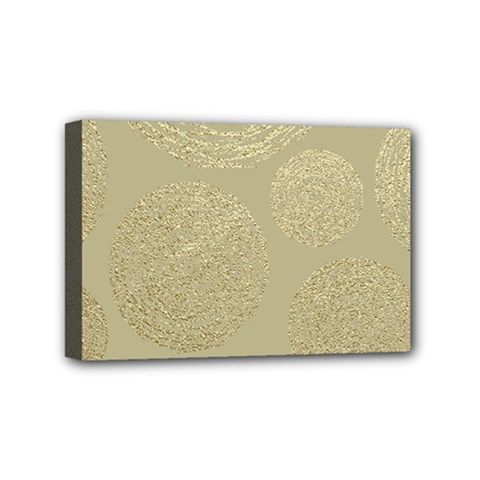 Modern, Gold,polka Dots, Metallic,elegant,chic,hand Painted, Beautiful,contemporary,deocrative,decor Mini Canvas 6  X 4