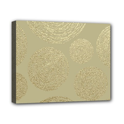 Modern, Gold,polka Dots, Metallic,elegant,chic,hand Painted, Beautiful,contemporary,deocrative,decor Canvas 10  X 8