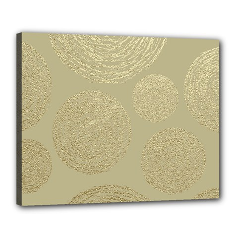 Modern, Gold,polka Dots, Metallic,elegant,chic,hand Painted, Beautiful,contemporary,deocrative,decor Canvas 20  X 16