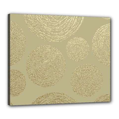 Modern, Gold,polka Dots, Metallic,elegant,chic,hand Painted, Beautiful,contemporary,deocrative,decor Canvas 24  X 20