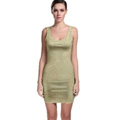 Modern, Gold,polka Dots, Metallic,elegant,chic,hand Painted, Beautiful,contemporary,deocrative,decor Bodycon Dress