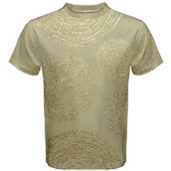 Modern, Gold,polka Dots, Metallic,elegant,chic,hand Painted, Beautiful,contemporary,deocrative,decor Men s Cotton Tee