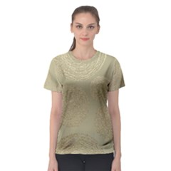 Modern, Gold,polka Dots, Metallic,elegant,chic,hand Painted, Beautiful,contemporary,deocrative,decor Women s Sport Mesh Tee