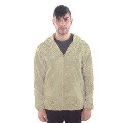 Modern, Gold,polka Dots, Metallic,elegant,chic,hand Painted, Beautiful,contemporary,deocrative,decor Hooded Wind Breaker (men)
