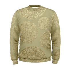 Modern, Gold,polka Dots, Metallic,elegant,chic,hand Painted, Beautiful,contemporary,deocrative,decor Men s Sweatshirt