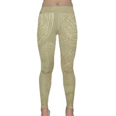 Modern, Gold,polka Dots, Metallic,elegant,chic,hand Painted, Beautiful,contemporary,deocrative,decor Classic Yoga Leggings