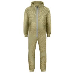 Modern, Gold,polka Dots, Metallic,elegant,chic,hand Painted, Beautiful,contemporary,deocrative,decor Hooded Jumpsuit (men)