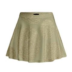 Modern, Gold,polka Dots, Metallic,elegant,chic,hand Painted, Beautiful,contemporary,deocrative,decor Mini Flare Skirt