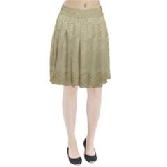 Modern, Gold,polka Dots, Metallic,elegant,chic,hand Painted, Beautiful,contemporary,deocrative,decor Pleated Skirt