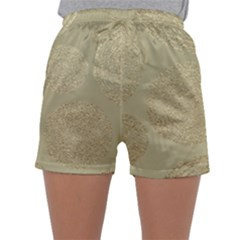 Modern, Gold,polka Dots, Metallic,elegant,chic,hand Painted, Beautiful,contemporary,deocrative,decor Sleepwear Shorts