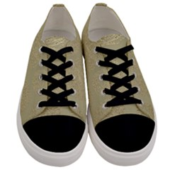 Modern, Gold,polka Dots, Metallic,elegant,chic,hand Painted, Beautiful,contemporary,deocrative,decor Men s Low Top Canvas Sneakers