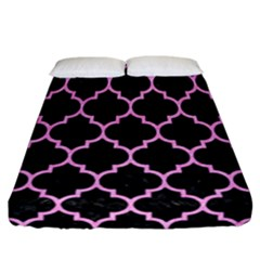 Tile1 Black Marble & Pink Colored Pencil (r) Fitted Sheet (california King Size)