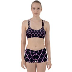 Tile1 Black Marble & Pink Colored Pencil (r) Women s Sports Set by trendistuff